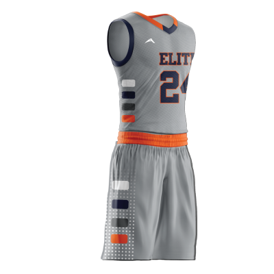 Custom basketball uniform sublimated sublimated side view