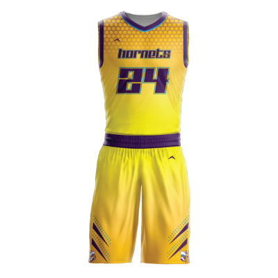 Custom basketball uniform sublimated HORNETS
