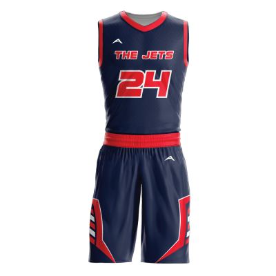 Custom basketball uniform sublimated JETS