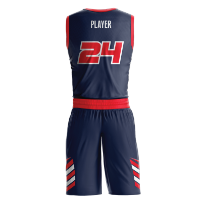 Custom basketball uniform sublimated JETS back view