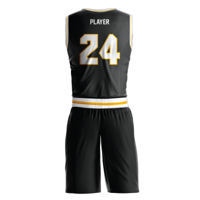 Custom basketball uniform sublimated KNIGHTS back view