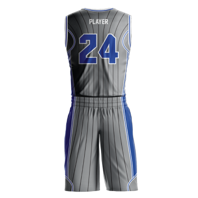 Custom basketball uniform sublimated MAGIC back view
