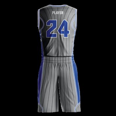 Custom basketball uniform sublimated MAGIC back view