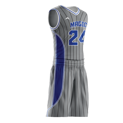 Custom basketball uniform sublimated MAGIC side view