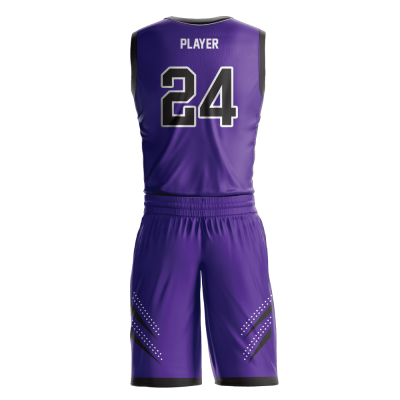 Custom basketball uniform sublimated ROYALS back view