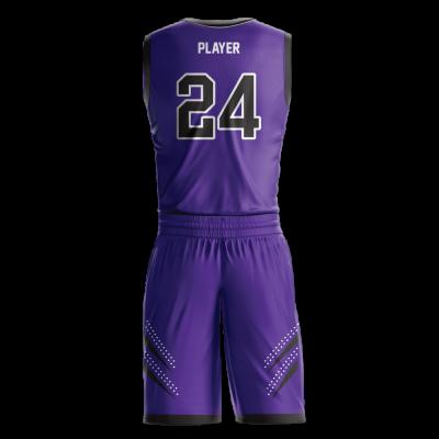 Custom basketball uniform sublimated ROYALS back view
