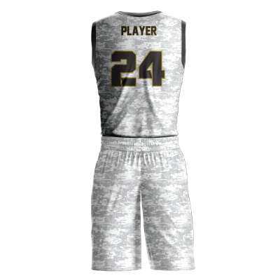 Custom basketball uniform sublimated RUTHLESS back view