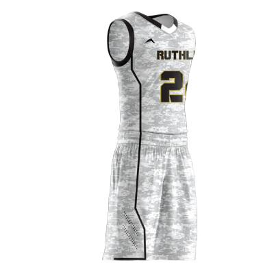 BASKETBALL UNIFORM SUBLIMATED RUTHLESS SIDE