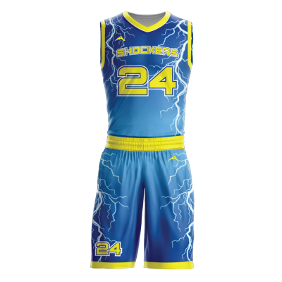 Custom basketball uniform sublimated STORM