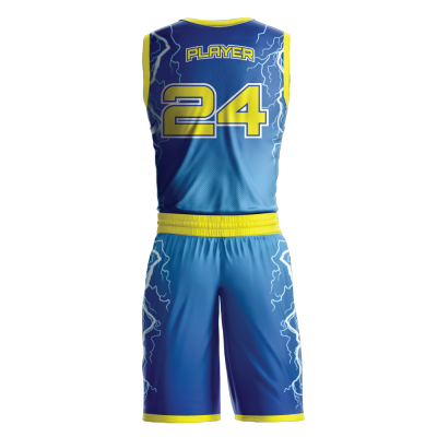 Custom basketball uniform sublimated STORM back view