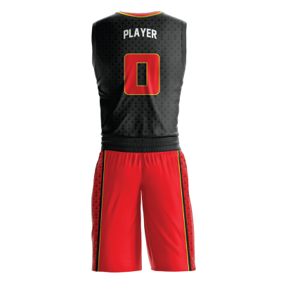 Custom basketball uniform sublimated TRIAD back view