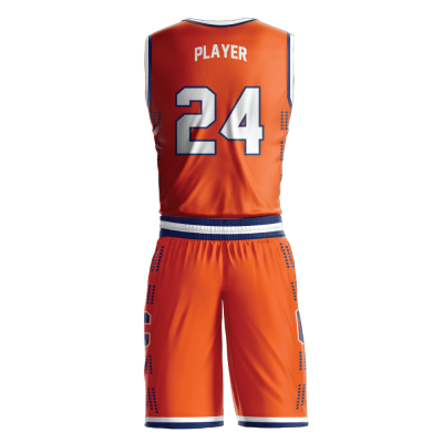 Custom basketball uniform sublimated UNIVERSITY back view