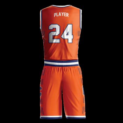Custom basketball uniform sublimated UNIVERSITY back view
