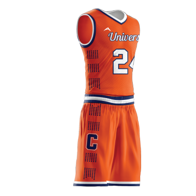 BASKETBALL UNIFORM SUBLIMATED UNIVERSITY SIDE