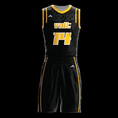 Custom basketball uniform sublimated VOLT