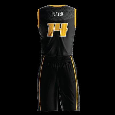 Custom basketball uniform sublimated VOLT back view