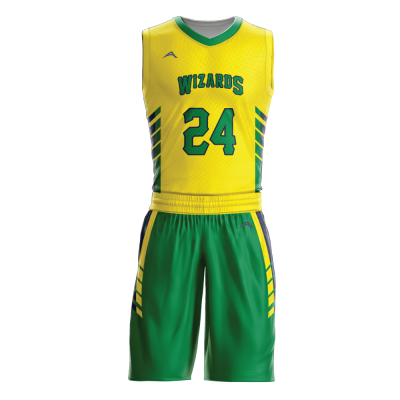 Custom basketball uniform sublimated WIZARD