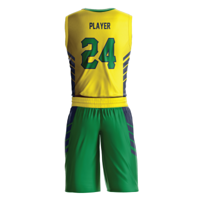 Custom basketball uniform sublimated WIZARD back view