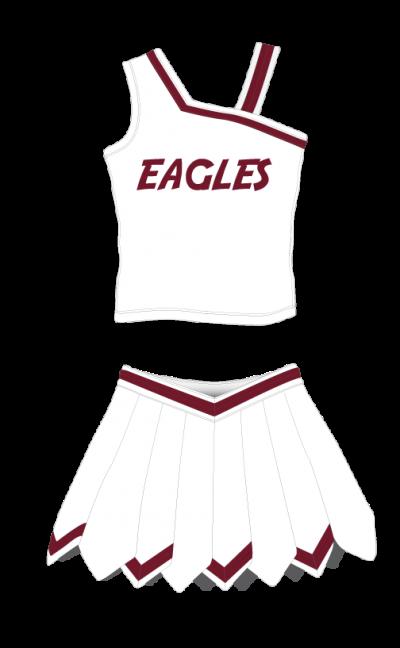 Cheerleading Uniform Sublimated Eagles