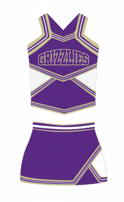 Cheerleading Uniform Sublimated Grizzlies