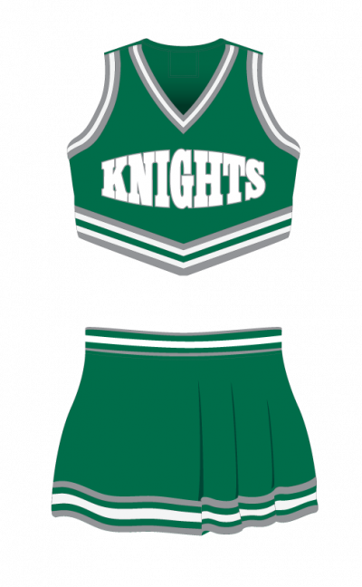 Cheerleading Uniform Sublimated Knights