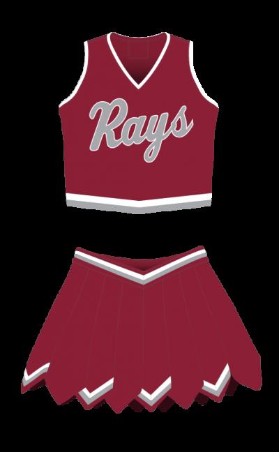 Cheerleading Uniform Sublimated Rays