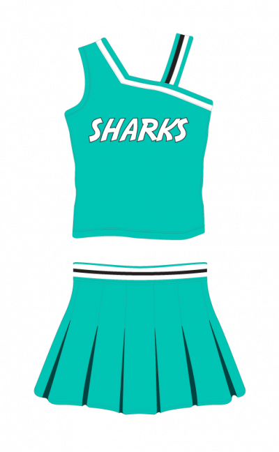 Cheerleading Uniform Sublimated Sharks