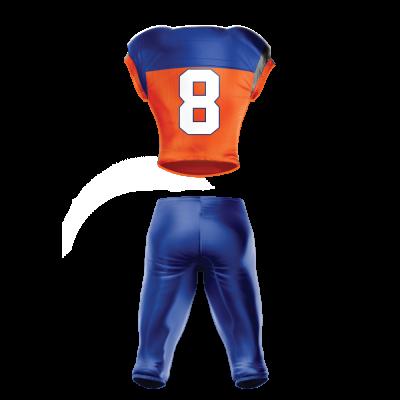 Custom Sublimated Football Uniform 507 back view