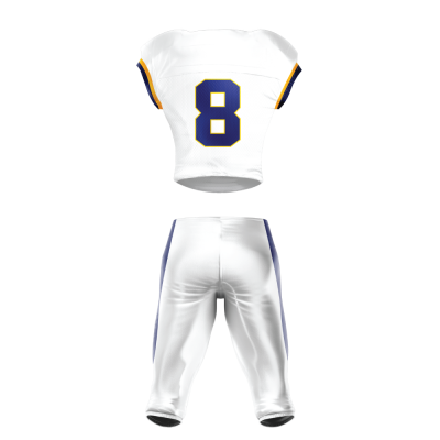 Custom Football Uniform Pro Tackle Twill or Sewn On 207 back view