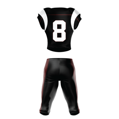 Custom Football Uniform Pro Tackle Twill or Sewn On 209 back view