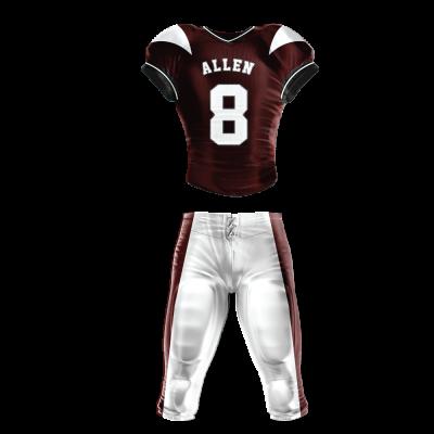 Custom Football Uniform Pro Tackle Twill or Sewn On 210