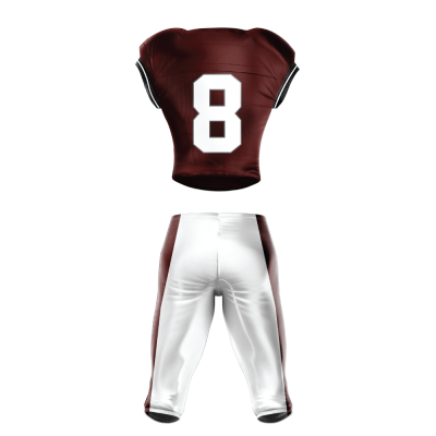 Custom Football Uniform Pro Tackle Twill or Sewn On 210 back view