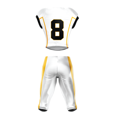 Custom Football Uniform Pro Tackle Twill or Sewn On 214 back view