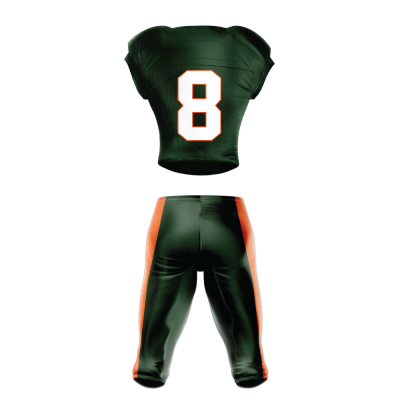Custom Football Uniform Pro Tackle Twill or Sewn On 217 back view