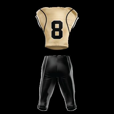 Custom Football Uniform Pro Tackle Twill or Sewn On 218 back view