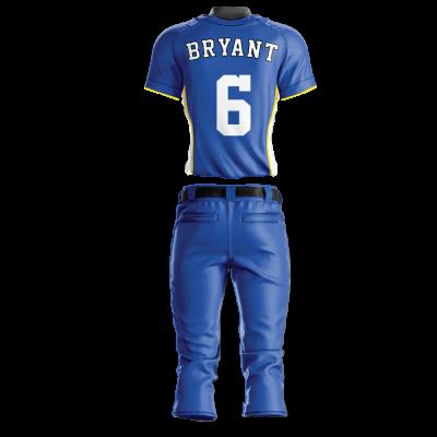 Custom Softball Uniform Pro Tackle Twill or Sewn On 228-back view