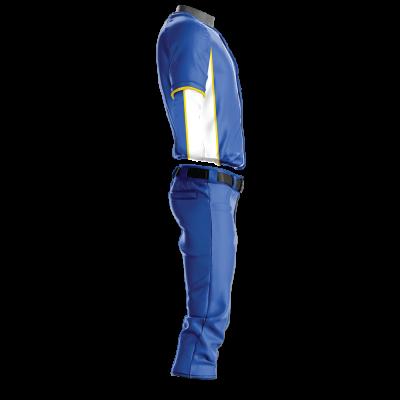 Custom Softball Uniform Pro Tackle Twill or Sewn On 228-side view