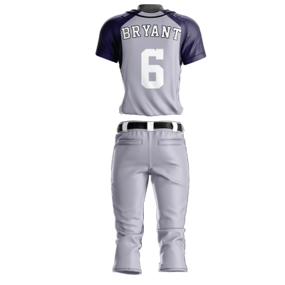 Custom Softball Uniform Pro Tackle Twill or Sewn On 229-back view