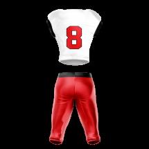 football uniform sublimated 200 Back