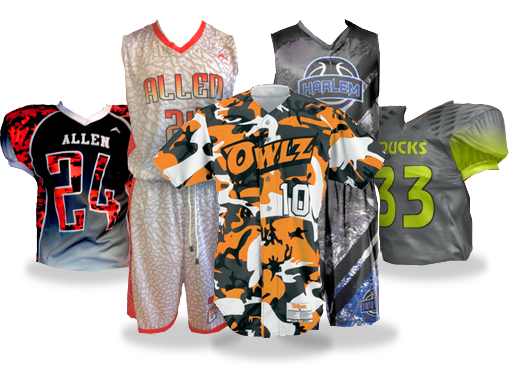 Sublimated sports team uniforms